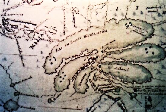 Extrait de la carte du père Laure à Mistissini